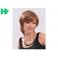 China Comfortable Synthetic Hair Wigs With Comb Easily , Cuticle Aligned Correct on sale