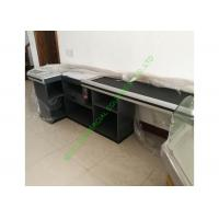 Quality Unique Design Cash Register Checkout Counter With Motor Belt For Supermarket for sale