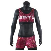 China Anti - Static Cheer Dance Clothes Bra And Shorts Uniform For Female on sale