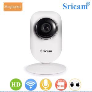 Quality Sricam SP009B onvif nvr support 128G microsd card sensor mini p2p wifi speaker camera for sale