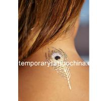 Quality Custom glow metallic gold temporary tattoos with long-lasting for sale