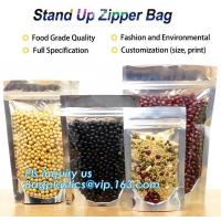 China Snack Zipper Bags Food Packaging Stand Up Ziplock Pouch,PACK flexible stand up pouch with zipper packaging bag for food/ on sale