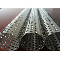 Quality Round Hole Stainless Steel Perforated Sheet Perforated Pipe Tube For Filter Cylinder for sale
