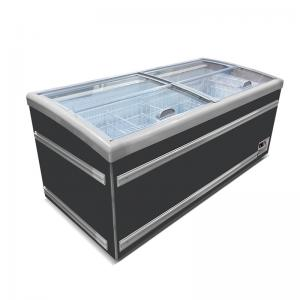 Quality Supermarket Top Open Commerical Display Refrigerated Showcase Island Freezer for sale