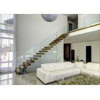 Quality Freestanding Floating Straight Metal Stair Kits Interior Personalised Shape for sale