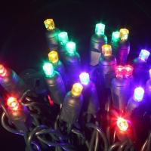 Quality 50 bulb led multi color string lights for christmas for sale