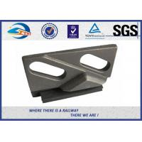 China Weldable Base Railway Clips/Double Holes Rail Clips With Integral Rubber Block And Upper Clip In Railroad on sale