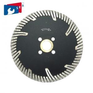 Quality Turbo 10 Inch Circular Saw Blade Diamond Edge For Cutting Granite Asphalt Concrete for sale
