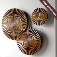Quality Golden Wood Carving Wall Art Sculpture for sale