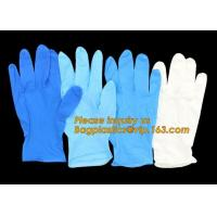 China Disposable powder free black examination nitrile gloves manufacturers,Colored Nitrile Gloves Disposable Medical Blue Pow on sale