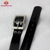 Buy Black fashion Waterproof plastic TPU coated dog collar at wholesale prices