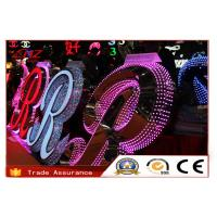 Quality Custom Exterior LED Acrylic Sign Letters Colorful Front Light Resin Signs for sale