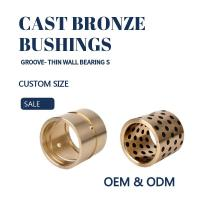 Quality CNC Plugged Graphite Cast Bronze Sleeve Bearings For Oil / Grease Scrapers for sale