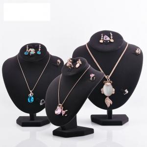 Quality Varnishing Printed Black Velvet Necklace Display Hook Mannequin Display Form for sale