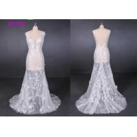 Buy cheap Transparent Tulle Lace Application Wedding Dresses Customized Factory Made from wholesalers