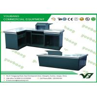 Quality Multifunctional  Stainless Metallic supermarket cashier counter , retail checkout counter for sale