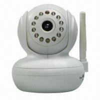 Quality Wireless IP Camera, Auto-backlight Compensation, 320 x 240-pixel QVGA for sale