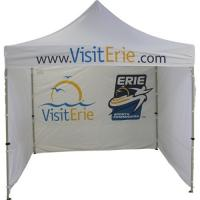Quality white 3x3 dye sublimation printing Folding Gazebo Tent with full side wall for sale