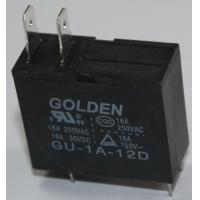 China Golden Black Two Pin PCB Power Relay GU SMT JQX-62F Micro Relay 12V on sale