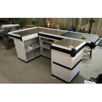 Quality Custom Stainless Steel Table Surface Supermarket Electric Cash Counter for sale