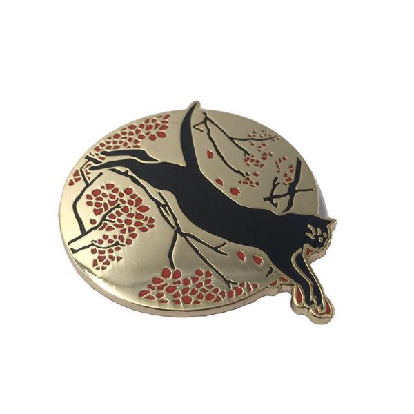 Customized Hard Enamel Lapel Pin Badges Gold Metal Plating For Kids