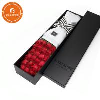 Quality Wholesale custom logo exquisite craft long stem bouquet gift packaging box for sale