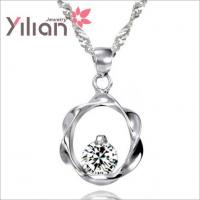 Quality Necklaces pendants with white gold plated  TJ0009 for sale