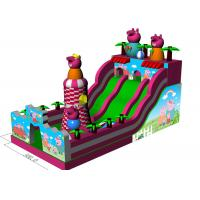 Quality Big Inflatable Inflatable Jumping Castle Peppa Pig Theme Full - Digital Printing for sale