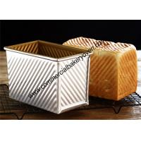 Quality Large Capacity Bread Making Molds , Gold Loaf Bread Box With Cover for sale