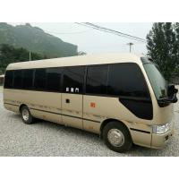 Quality 2010 Used Toyota Coaster Bus 23 Seats / Used Diesel Buses Automatic Door for sale