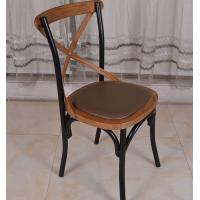 Buy cheap Fashion Restaurant Furniture Wood Stacking Cross Back Dining Room Chairs from Wholesalers