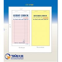 Buy cheap CT-S7000 guest checks  2parts white booked ISO Certificate from  TIMIpaper for restaurant fast selling in US MARKET from Wholesalers