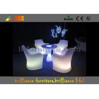 Buy cheap 30 * 30 * 110 cm LED Lighting Furniture , LED bar table with glass top from Wholesalers