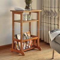 China Magazine rack, bamboo phone holder, three layer shelf, bamboo wooden magazine rack on sale