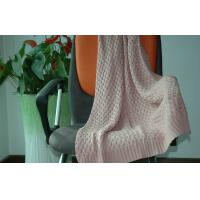 Quality 100% Cotton Knit Throw Blanket decorative / Self Edge Knitted Blanket Throw for sale