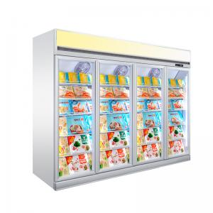 Quality Upright Refrigeration Glass Door Commercial Refrigerator And Freezer for sale
