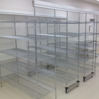 Quality Double Deep High Density Wire Shelving Sliding Track Storage System for sale