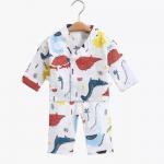 Quality Jacquard Muslin Baby Pajamas Sleepwear Long Sleeves 100 Cotton MBP 003 for sale