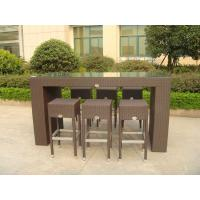 Outdoor Leisure Furniture Sets , Fashion Resin Wicker Bar Set