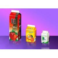 Quality Hot Filled Gable Top Carton  For Milk, Fruit Juice And Tea Beverage for sale
