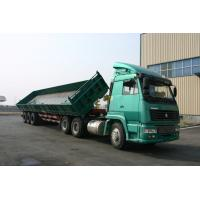 3 Side Dump Trailer / Open-top Tank Semi Trailer For Long Tipper , low center of gravity