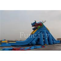 China Dragon Theme Inflatable Water Slide For Adults / Kids 0.55mm PVC Tarpaulin on sale
