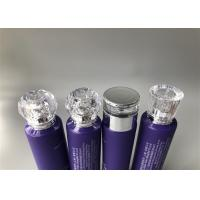 Quality 100ml Purple Plastic Cosmetic Tubes Silk Screen And Soft Touch Printing for sale
