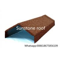 Quality stone coated metal roofing sheet manufacturer/synthetic resin roof tile/made in China Angle Ridge for sale