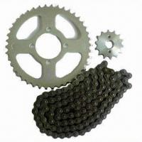 Quality Motorcycle chain and sprocket, customized requirements are accepted for sale