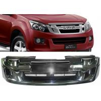 Quality ISUZU D-MAX 2012 2013 2014 2015 OE Style Chromed Front Grille with Red Letters for sale