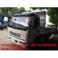 Quality hot sale dongfeng 4*2 LHD 120hp diesel dump tipper truck, 2017s best seller dongfeng mini 5tons dump truck for sale for sale