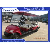 Quality Fuel Type Esix Seater Electric Car , Club Precedent Golf Cart 80km Range for sale