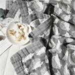 Quality Hedgehog Printed Infant Muslin Blankets Soft Plain Style Large Blankets For Summer for sale