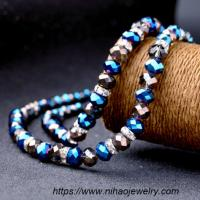Quality Fashion colored beaded necklace for sale